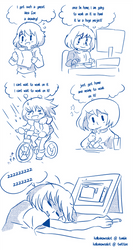 Tootired -comic- by Kell0x