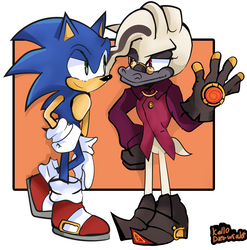 Sonic and Starline by Kell0x