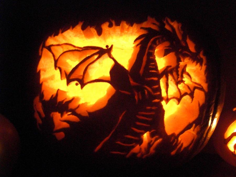Maleficent dragon pumpkin by everlove sesshomaru on