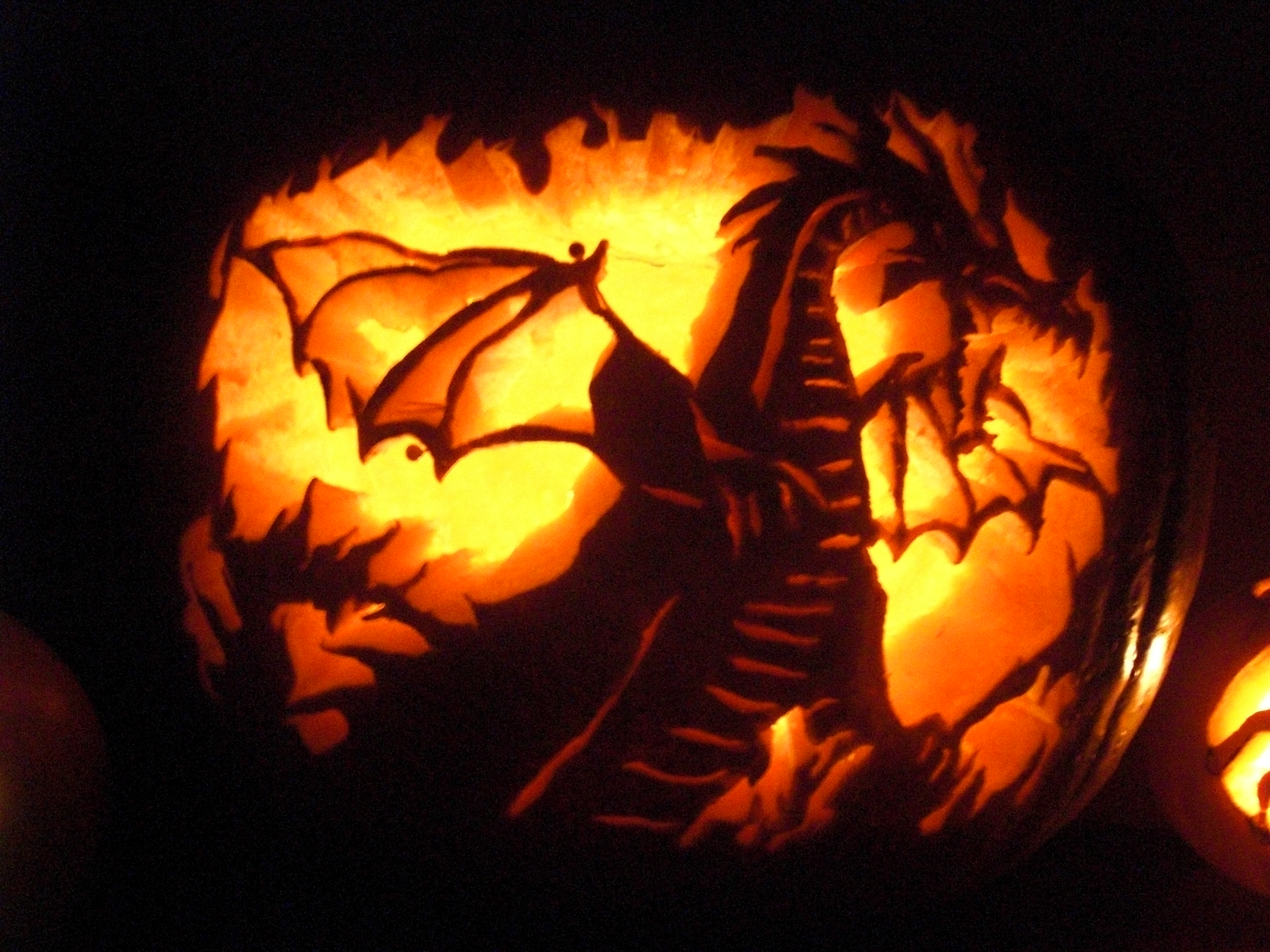 dragons dragon pumpkin carvings