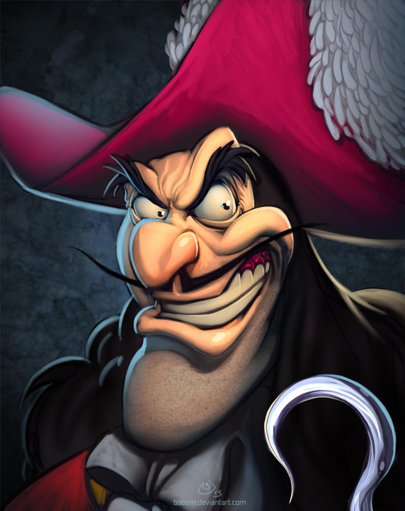 Disney Villains Captain Hook by NicChapuis