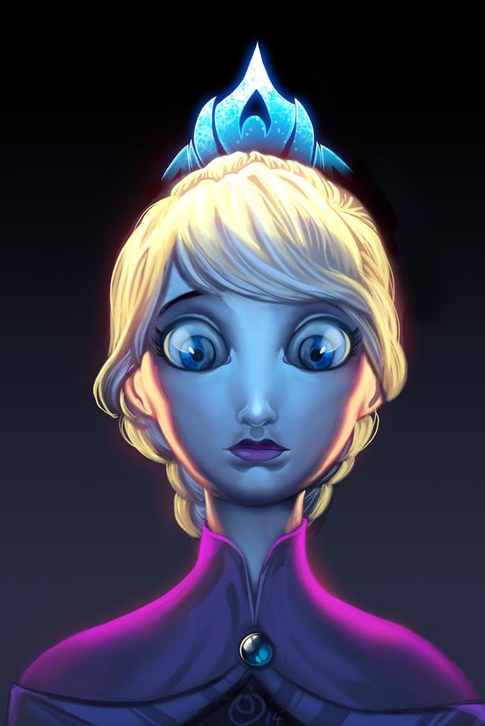 Elsa Frozen Inside by NicChapuis