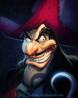 Disney Villains Captain Hook REMASTERED by NicChapuis