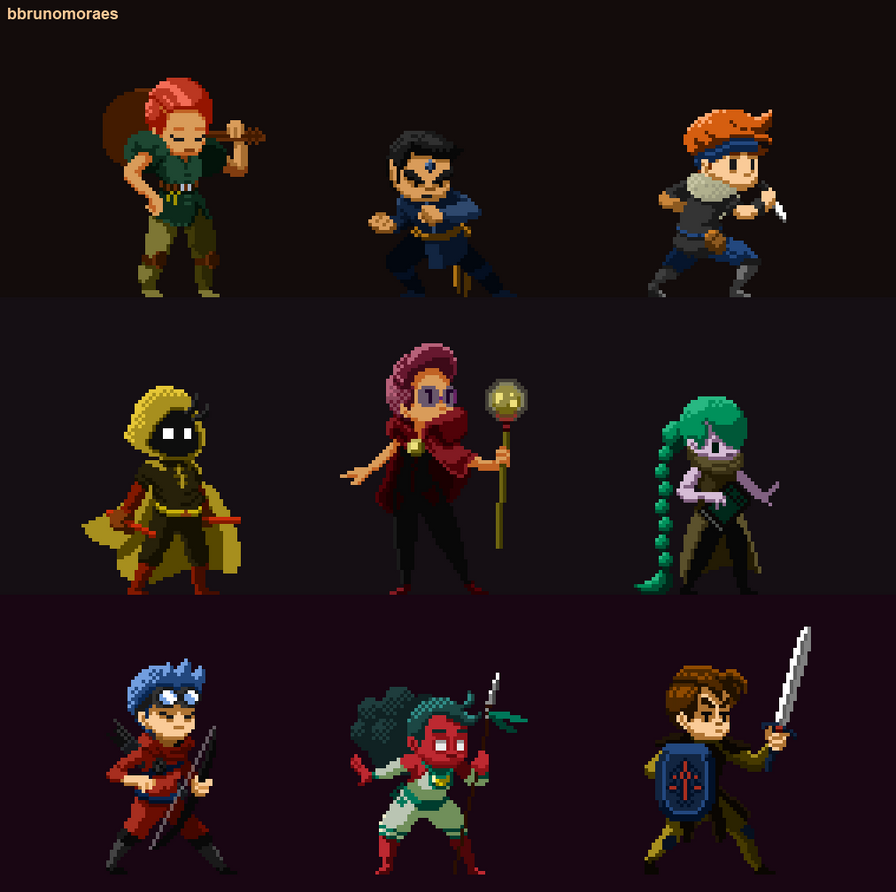 (Animated) RPG Classes! By Bbrunomoraes On DeviantArt
