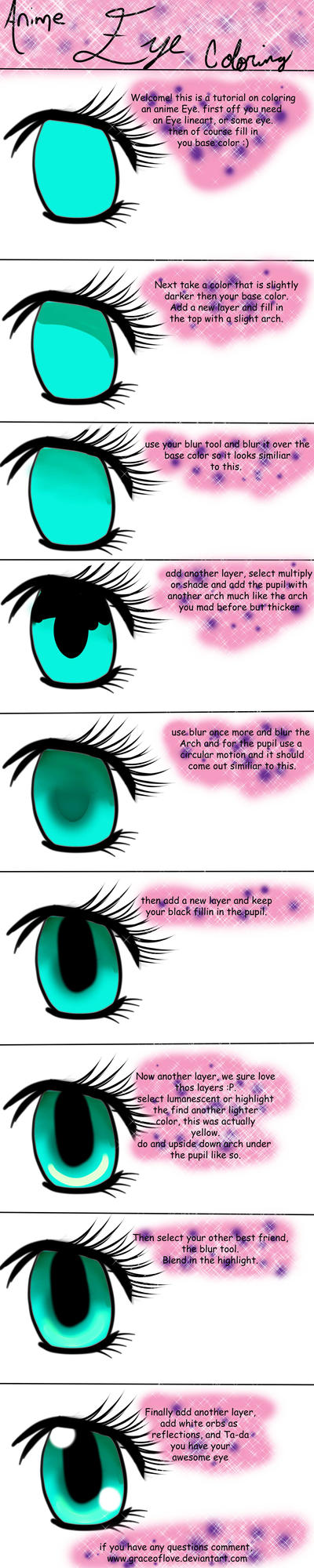 Anime eye tutorial by Graceoflove