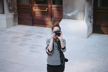 girl with camera ii by andrea-ioana