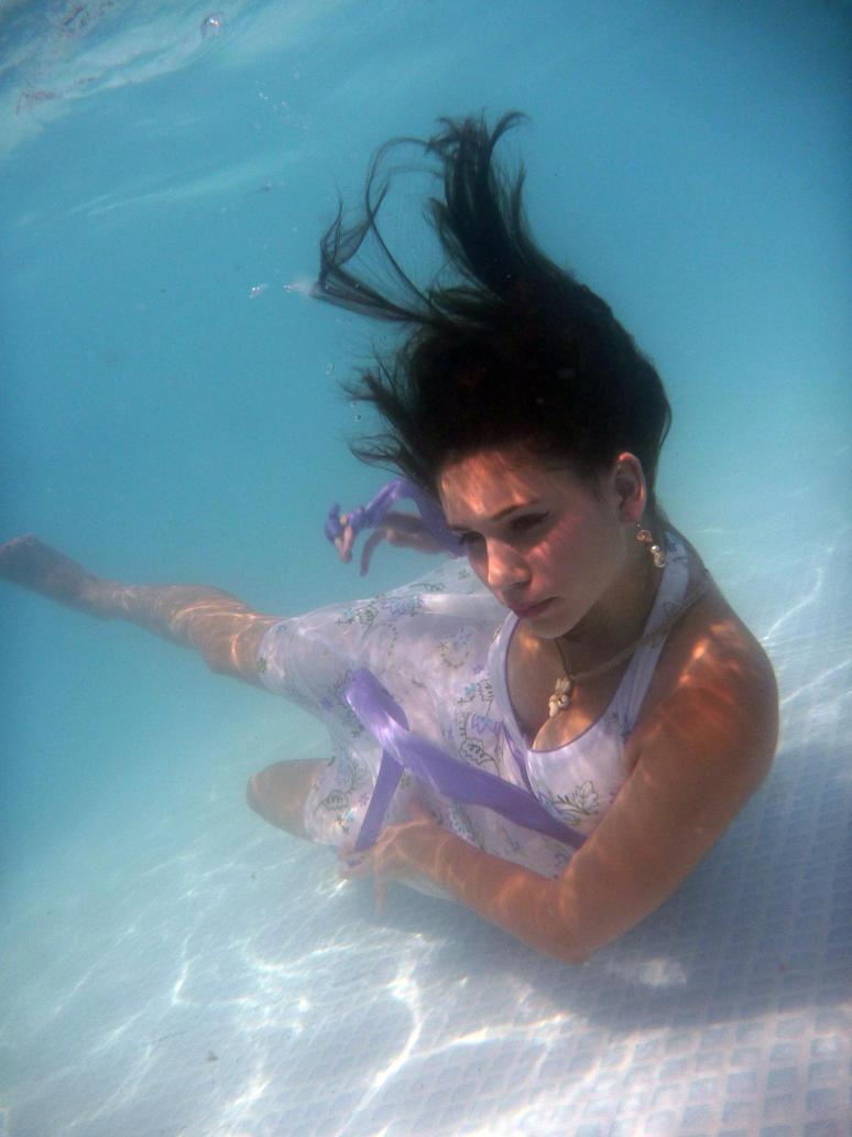 Purple Dress Underwater 6 by Orkiss