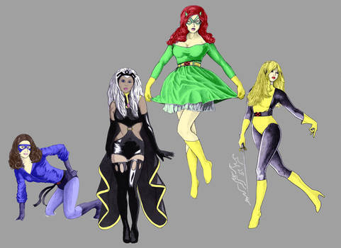 the ladies of x-men