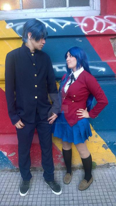 Ami and Ryuuji - toradora cosplay by Paper-Doll89