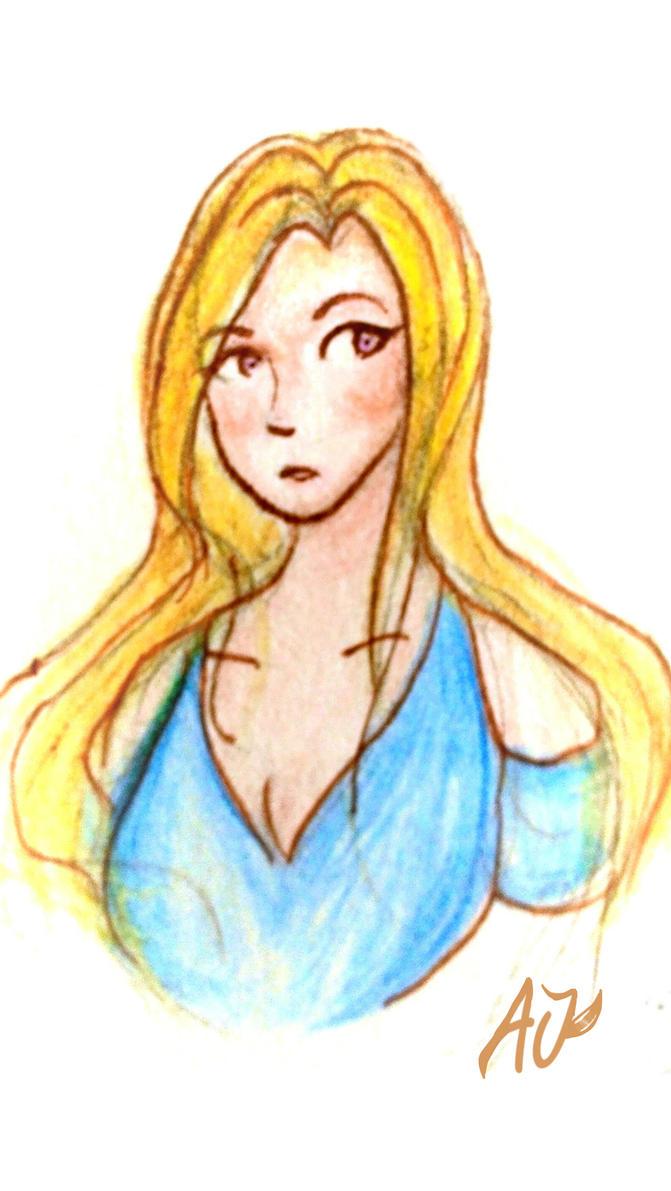 Blond Girl by TaikaJameson