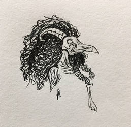 Inktober Day Sixteen: Weird Hag by Graphite-Graveyard