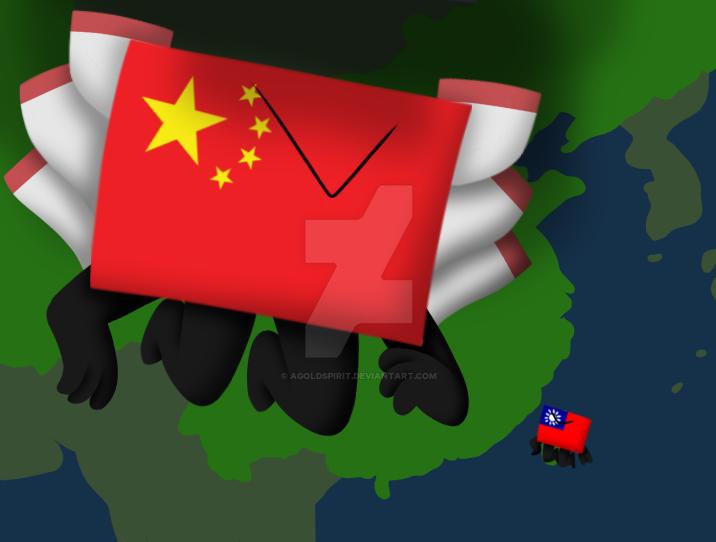China and Taiwan by AGoldspirit