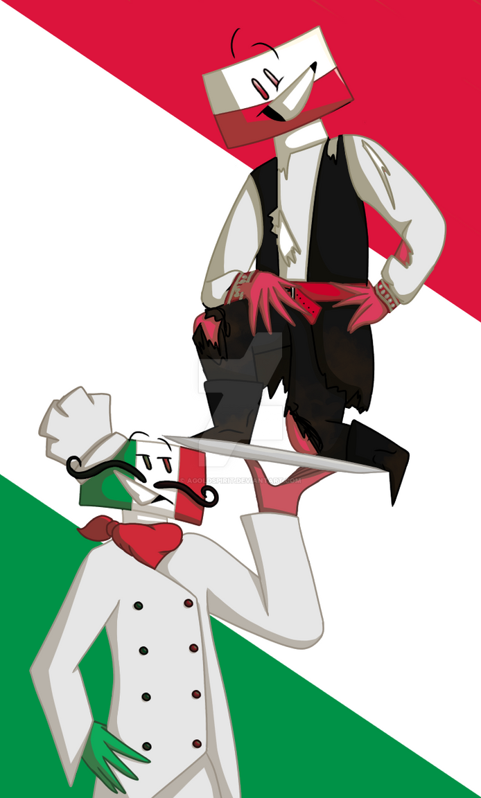 Italy and Poland by AGoldspirit