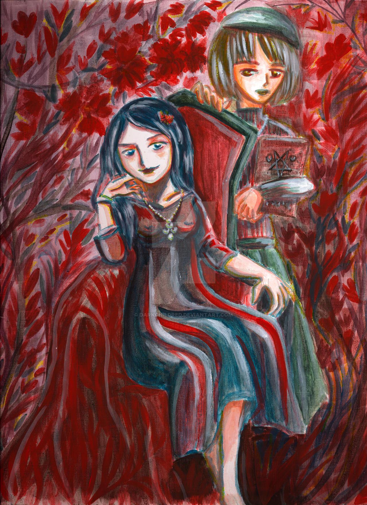 Suspiria Movie Remake Inspired Painting Witches By Darkchildred On Deviantart