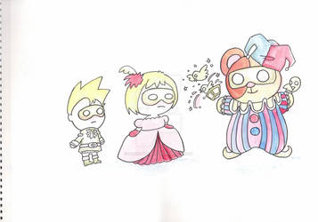 random drawing, watercolor, original characters