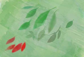 Digital drawing: Green Leaves (soft light)