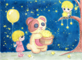 Children of the Night And Teddy Bear