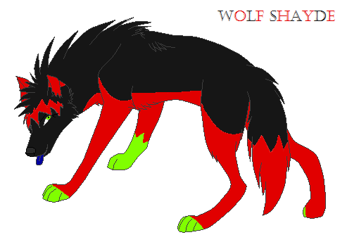 Shayde's Wolf Form by Shaydetehkat