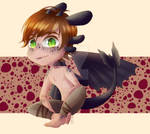COMMISSION: Dragon Hiccup