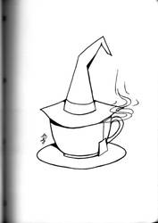 Inktober 2018: Tea witch by xFeajix