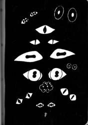 Inktober 2018: Oh so many eyes by xFeajix