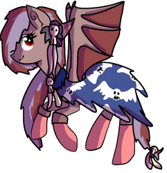custom demon Pony by fluffy-adopts7