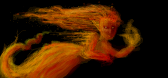 fire elemental by Dragonwench