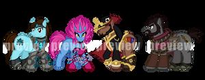 Commission - League of Legends Ponies