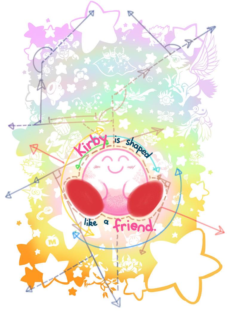 Kirby is shaped like a friend by Triple-Q