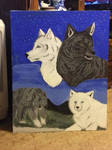 wolf paintting for my grandma birthday
