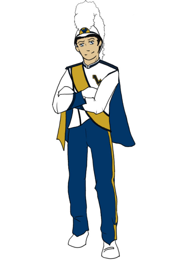 WVU Pride Band Member Color by Reddragonwings