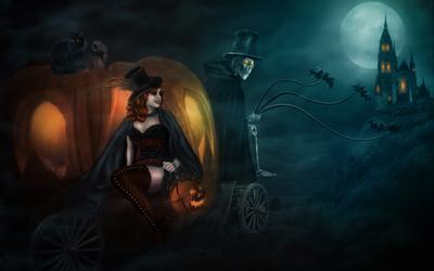 Halloween Cinderella by mari-na