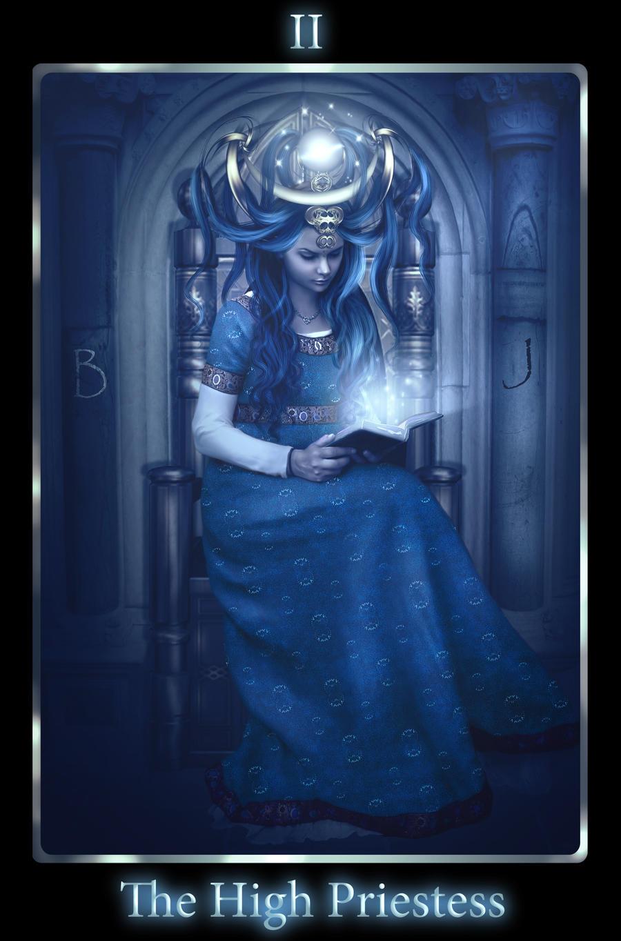 High Priestess. Tarot by mari-na