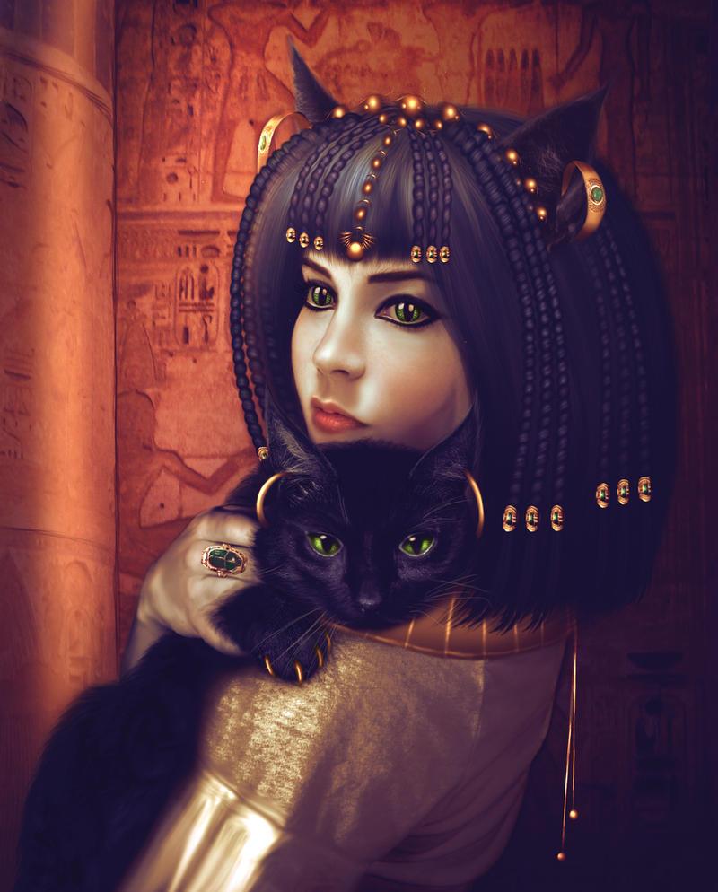 egypt Bastet, la Madre dei Gatti - by mari-na DeviantArt (2011-2017) © dell'autore