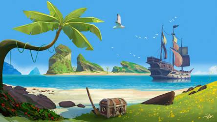 Somewhere in Sea Of Thieves by Marrazki