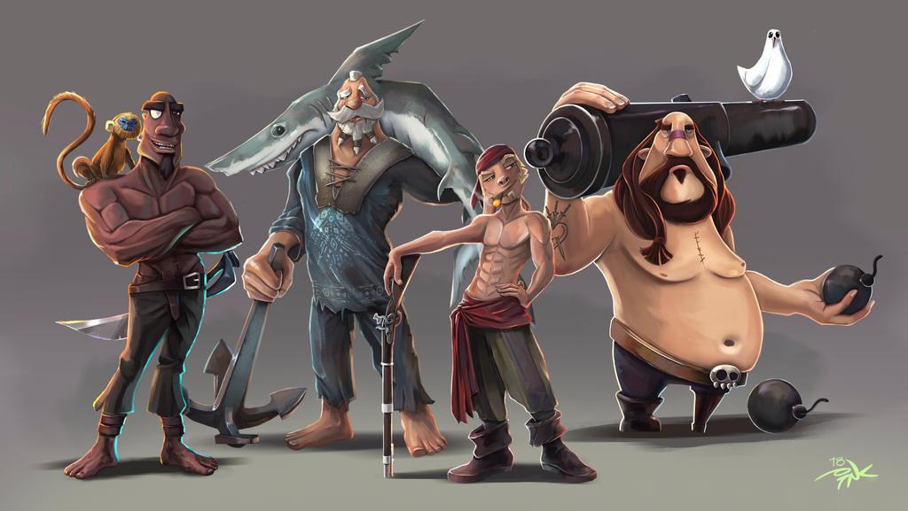 My Sea Of Thieves Pirate Crew by Marrazki