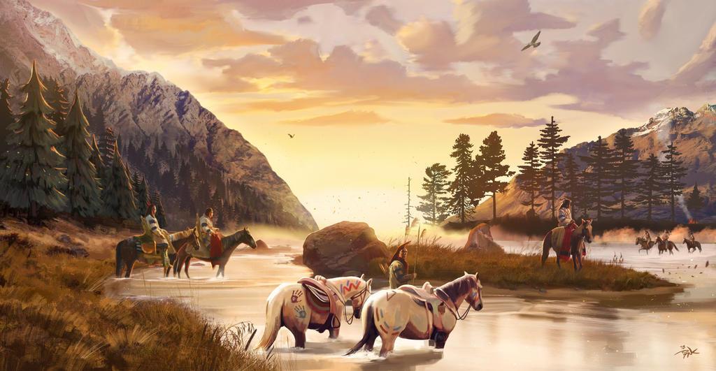 River encounter by Marrazki