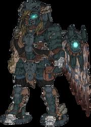 Tae'iryn the Kyrdan War God (Unfinished) by Great-5