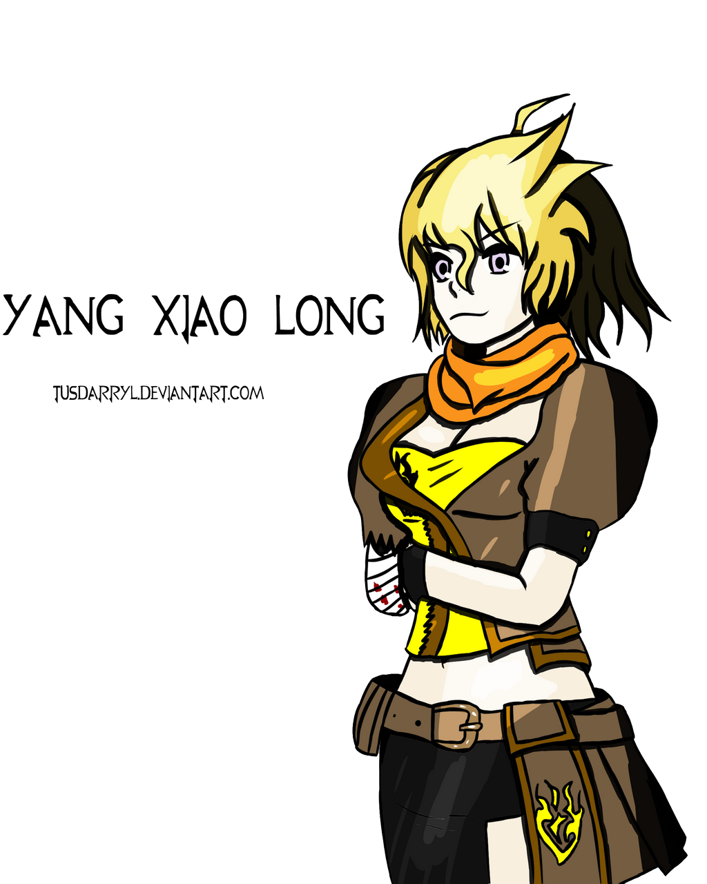 Yang Xiao Long Wallpaper: RWBY Fanart: Yang Xiao Long, In Own Style By TUSDarryl On