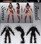 Serena / Anaroth Model Sheet by miycko