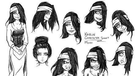 Karin Character Sheet by miycko