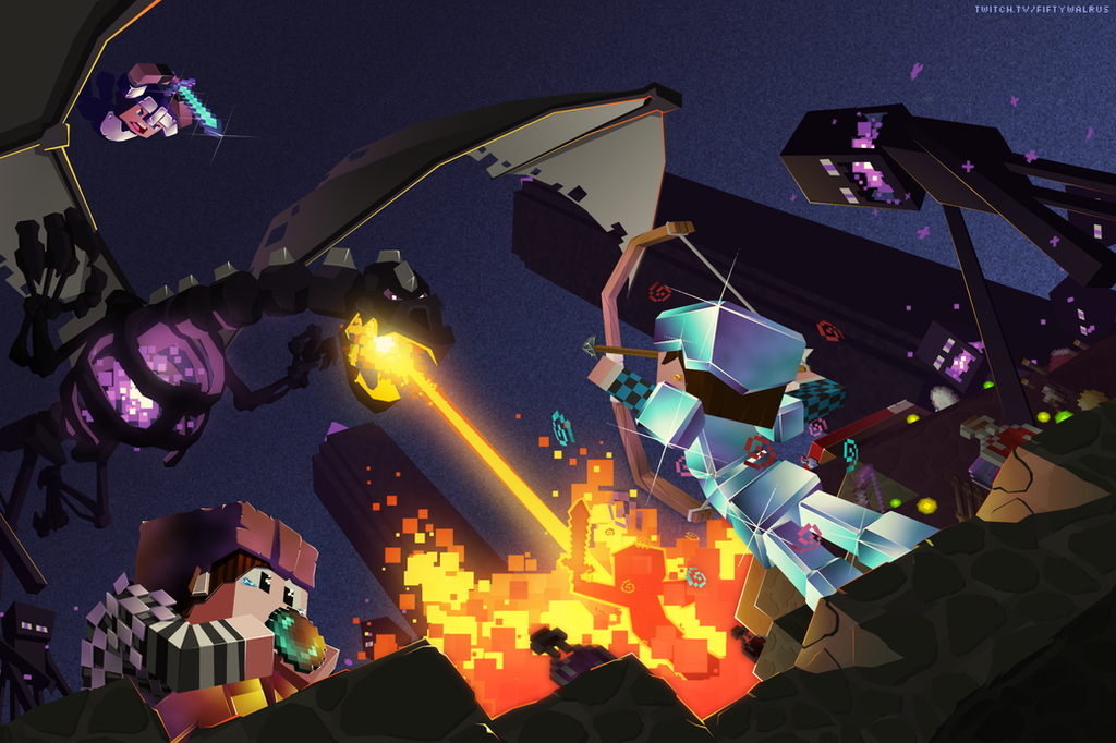 Epic Nether Dragon Battle