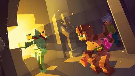 AspiriaMC - Minecraft Server Promo Illustration