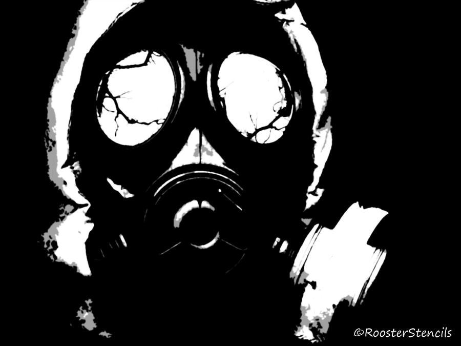 Gas Mask Stencil Battle by RoosterStencil on DeviantArt