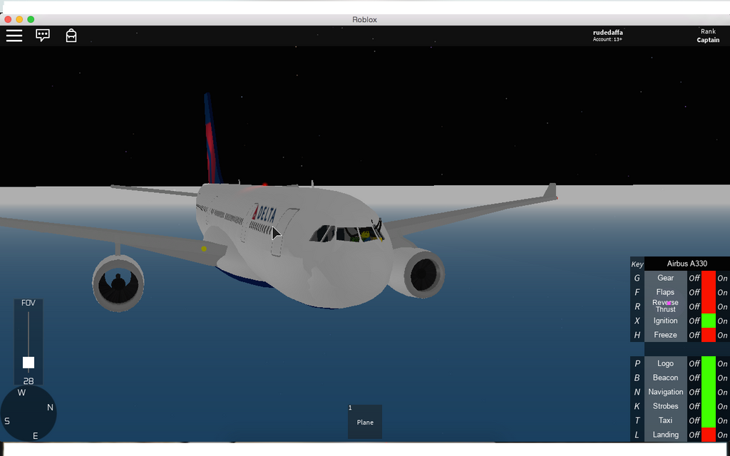 Delta Airlines A330 On My Roblox Account by CONCORDE1 on