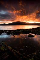 Lindisfarne Sunset by alexwise