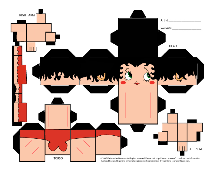 Betty Boop Cubee Craft by lindsibellomo