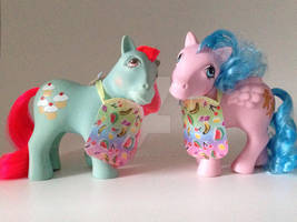 Rainbow Aprons for Cookery Ponies