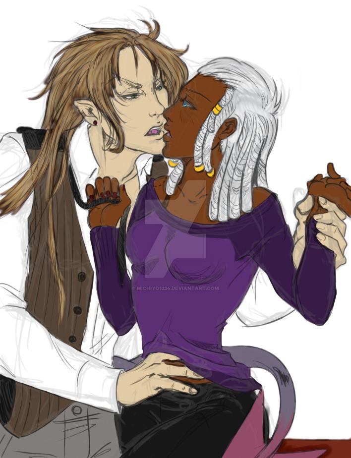 Nairi and Etheon Colored by Michiyo1234