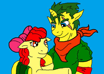 Emerald and Apple Bloom (Facebook Request) by McGreger16